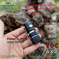 EDC Ручной фонарик Amutorch AX2 (1100LM, 5000k NW, SST20 led, IPX8, 5 режимов, аккумулятор 16340 в комплекте)