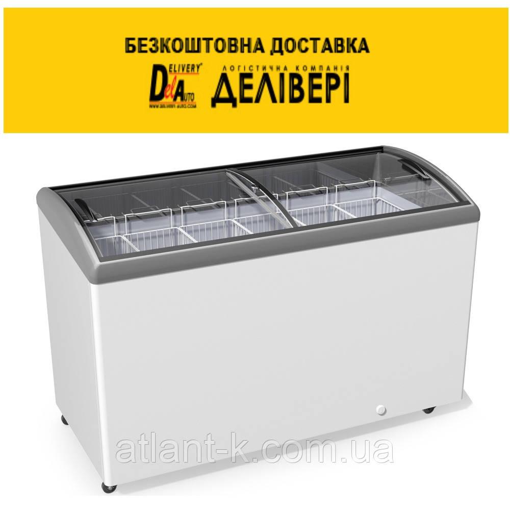 Морозильный ларь JUKA  M 500 S  506 л, гнутое стекло
