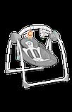 Дитяче крісло-гойдалка Lionelo RUBEN GREY TURQUOISE, фото 2