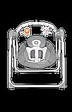 Дитяче крісло-гойдалка Lionelo RUBEN GREY TURQUOISE, фото 3