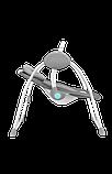 Дитяче крісло-гойдалка Lionelo RUBEN GREY TURQUOISE, фото 4