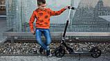 Дитячий самокат Lionelo Luca BLACK GRAPHITE, фото 8