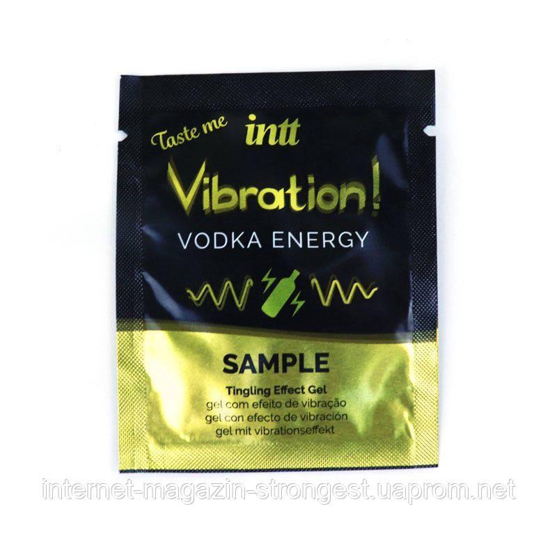 Рідкий вібратор Intt Vibration Vodka (пробник 5 мл) дуже потужний