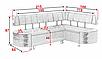 Кухонный угол раскладной Бридж Алiс-М, фото 4