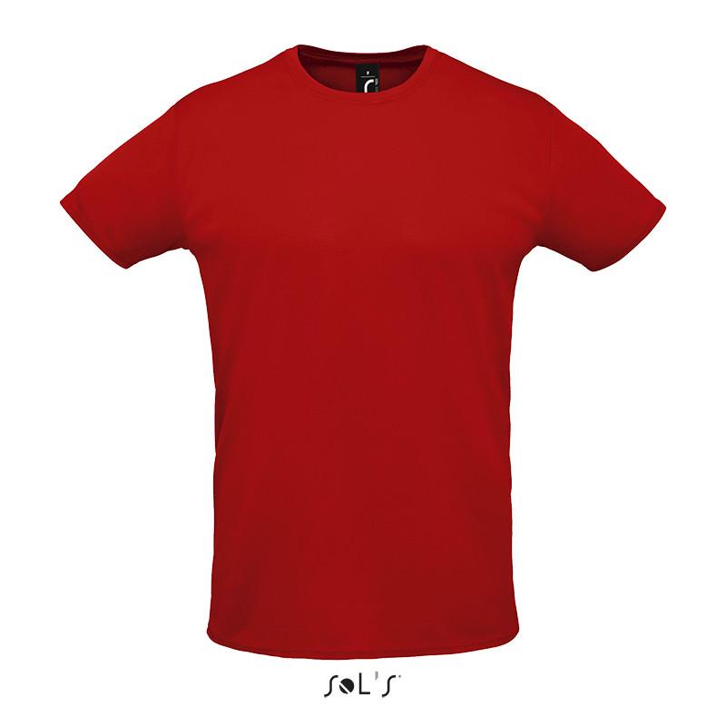 Спортивна футболка унісекс SOL'S SPRINT (червоний, M)