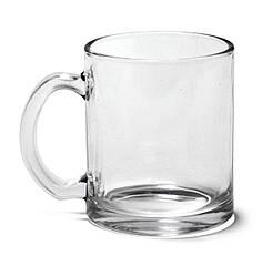 """Чашка скляна ТМ """"Bergamo"""" (прозорий)"""