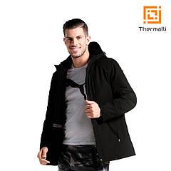 Чоловіча куртка з підігрівом Thermalli Pila (чорний, XL)