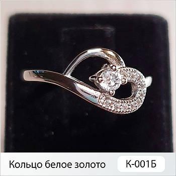 Кольцо белое золото К-001Б