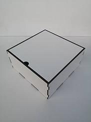 Коробка подарочная с перегородкой и крышкой из ДВП 10*10