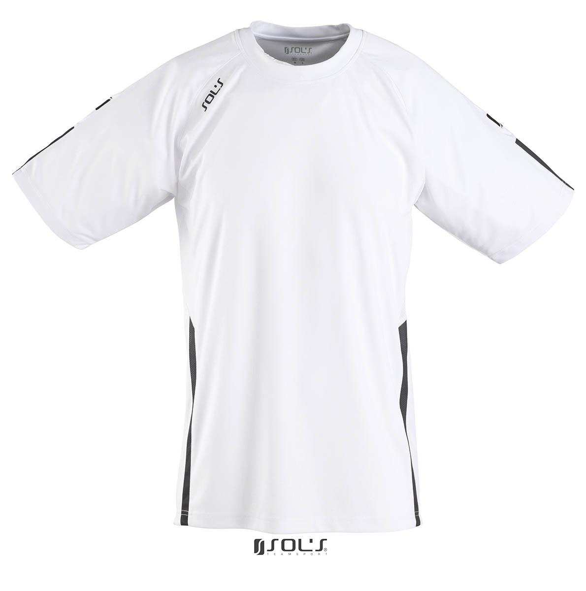 Футболка SOL'S WEMBLEY SSL (білий/чорний, S)