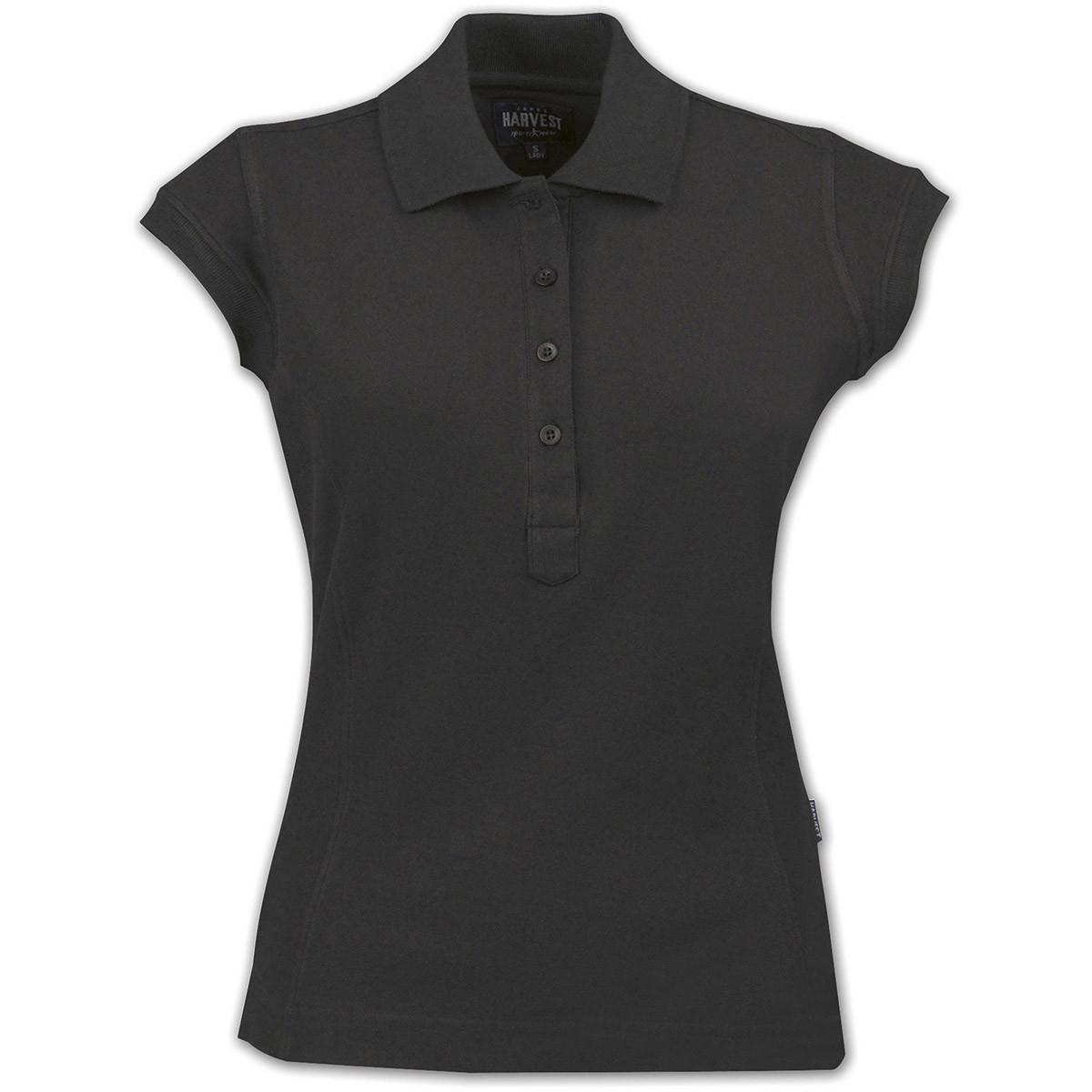 Жіноче поло Tiffin від ТМ James Harvest (чорний, XL)