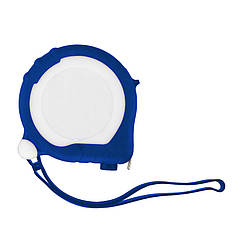 Рулетка Bergamo TAPE 200, 3 метра, 2 стопери, пластикова, прорезинений корпус (синій)