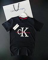 Футболка Calvin Klein Black (принт пайетка)