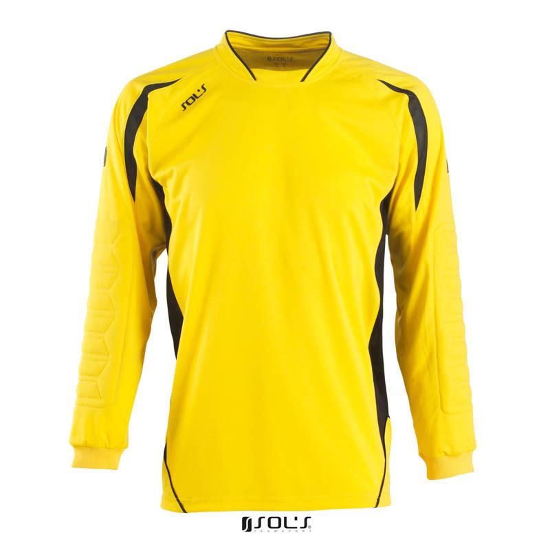 Футболка воротаря SOL'S AZTECA (лимонний/чорний, M)