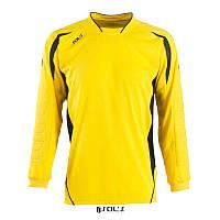 Футболка воротаря SOL'S AZTECA (лимонний/чорний, M), фото 1