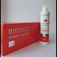 Лечебные ампулы плюс шампунь для стимулирования роста волос и против выпадения Le Cher Biorevit Tonic набор