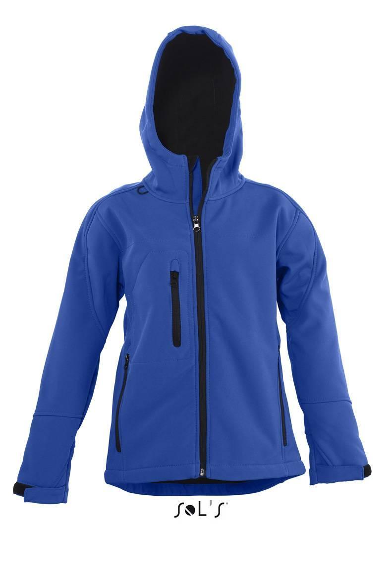 Куртка з капюшоном SOL'S REPLAY KIDS (яскраво-синій, 10Y)