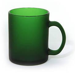 """Чашка скляна ТМ """"Bergamo"""" (темно-зелений)"""