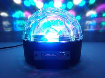 Світлодіодний диско куля Bluetooth Music Ball + Флешка + Пульт Диско-куля світлодіодний Led Magic Ball