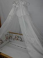 Бортики высокие с чехлами на молнии и постелька в детскую кроватку