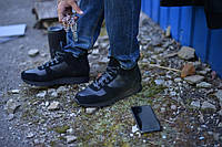 Ботинки черные натуральная кожа с замшей