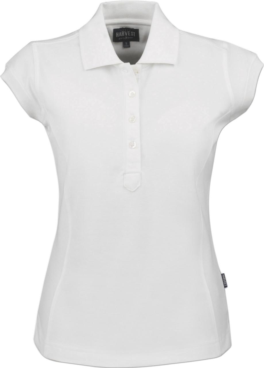 Жіноче поло Tiffin від ТМ James Harvest (білий, XL)