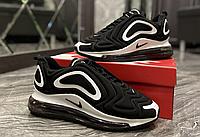 Найки аир макс 720 мужские кроссовки черно белые Nike Air Max 720 Black White