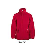 Дитяча куртка з флісу на блискавці SOL'S NORTH KIDS (червоний, 06Y)