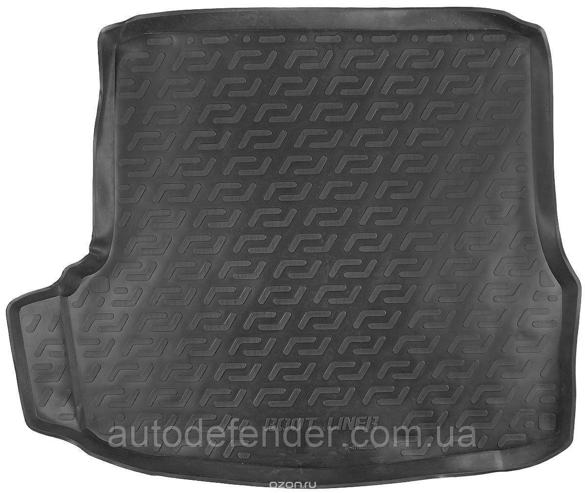 Коврик в багажник для Skoda Octavia A5 2005-13 лифтбэк, резино-пластиковый (Lada Locker)
