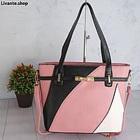 Контрастная женская сумка через плечо, розовая, новинка 2020.Модная разноцветная женская сумка через плечо