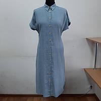 Летнее женское платье рубашка 50 р