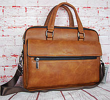 Мужская сумка-портфель под формат А4 с двумя отделами, сумка для документов КС11-1