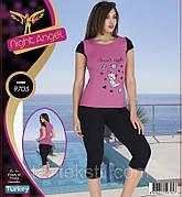 Комплект 2-ка футболка с бриджами хлопок + эластан Night Аngel Турция № 9705