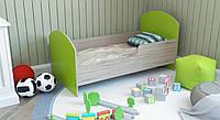 Детская односпальная кровать из дерева с бортиками от 3 лет 140х70, Детская одноярусная кровать ЛДСП