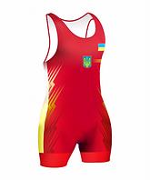 Борцовское трико красное сборной Украины 2016 размер 2XS