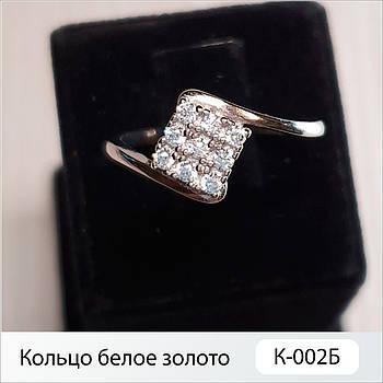 Кольцо белое золото К-002Б