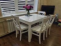 Раскладной обеденный стол для маленькой кухни офиса в гостиную Сан Ремо-2 раздвижной деревянный Biformer