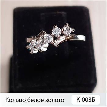 Кольцо белое золото К-003Б