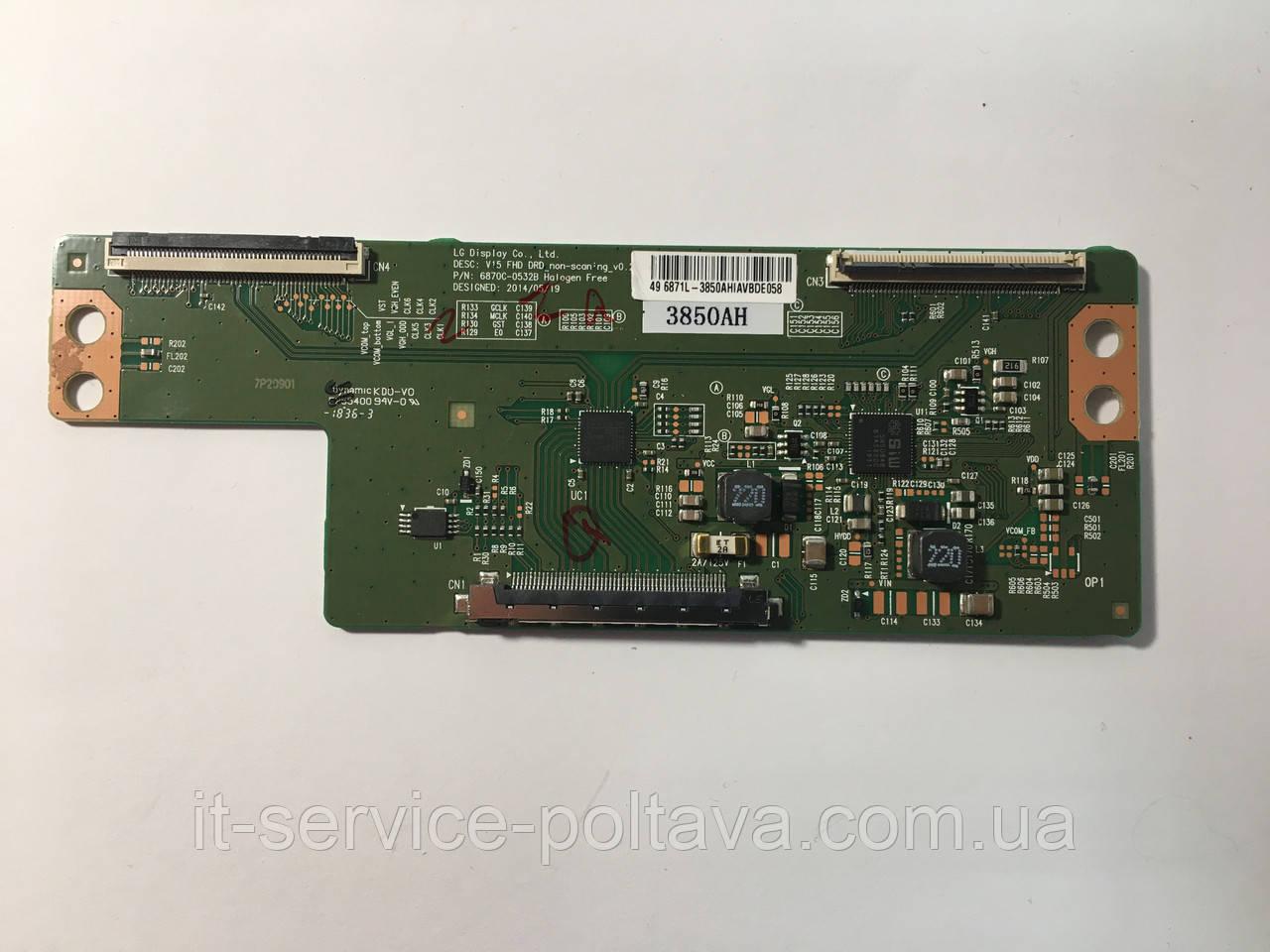 Плата T-CON 6870C-0532В  V 15 FHD DRD_non-sconing_v0.2