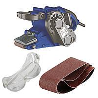 Ленточная шлифовальная машина Витязь ЛШМ-1180+5 лент наждачной бумаги+защитные очки+рукавицы+гарантия