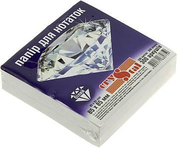 """Блок/заст. нкл 85х85мм 300арк. білий """"Crystal"""" №0759(40)"""