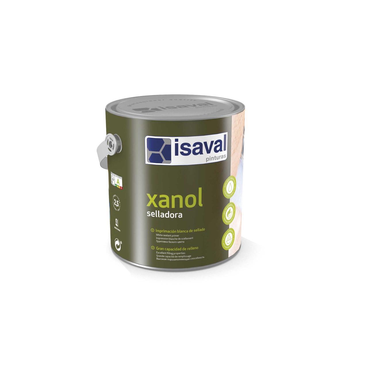 Алкідна ґрунтовка герметик для дерева на водній основі Ксанол Селладора ISAVAL 2,5л≈25м²/шар