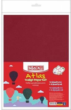 """Набір паперу для дизайну """"Атлас"""" A4 120г/м2,10арк.,одностороній + 5арк. A5 №MX61631(10)"""