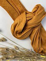 Шарф палантин женский зимний теплый шерстяной желтый, фото 1