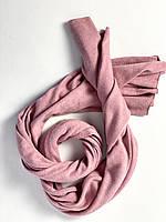 Шарф палантин женский зимний теплый шерстяной розовый, фото 1