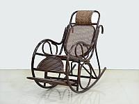 Kompred Крісло качалка Чаббі Kompred натуральний ротанг, темно-коричневий, kk0422