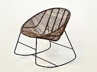 Kompred Плетеное кресло-качалка Эскудо Kompred натуральный ротанг, коричневый, kr08210