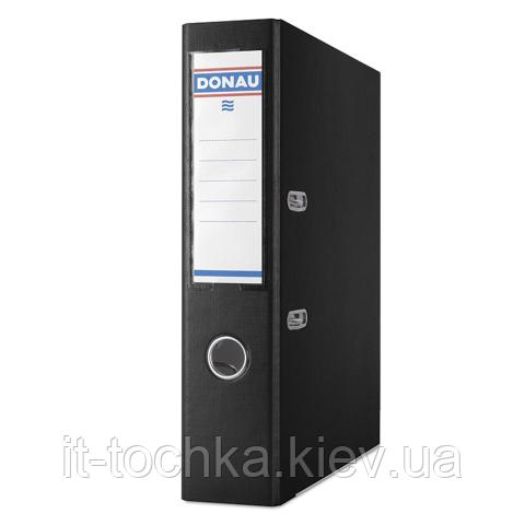 Регистратор для бумаг premium А4 ширина торца 75 мм черный donau 3975001pl-01
