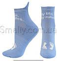 Женские зимние носки полуплюш укороченные, фото 2