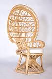 Крісло Павлін  натуральний ротанг світло-медовий kr0010, фото 6